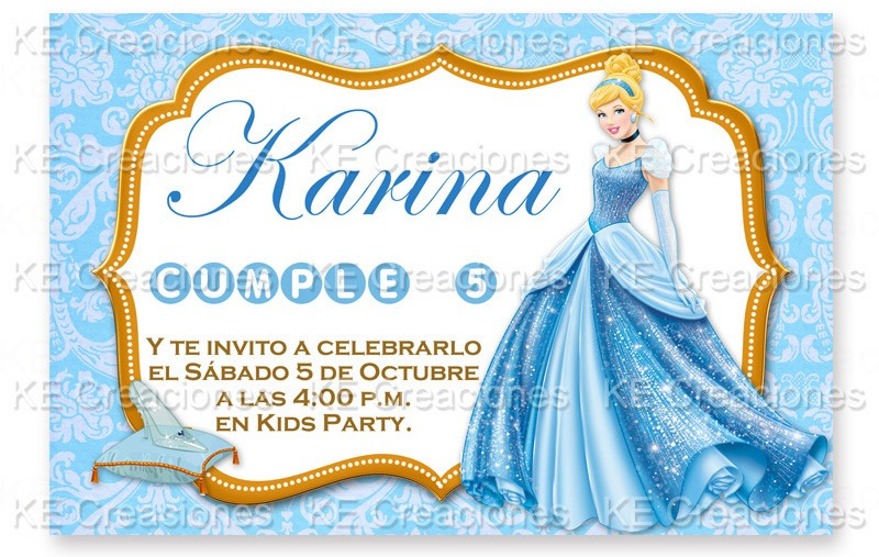 Invitaciones Kit Imprimible Cenicienta Princesas Disney - $ 75.00 ...