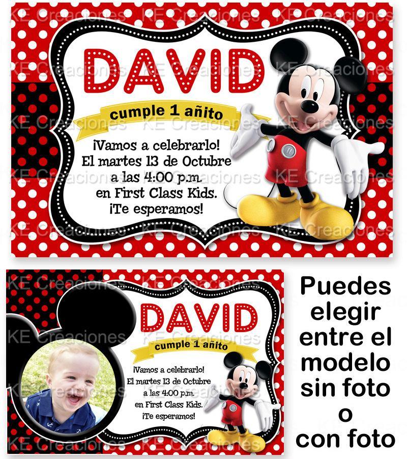 Invitaciones De Mickey Mouse Imagui