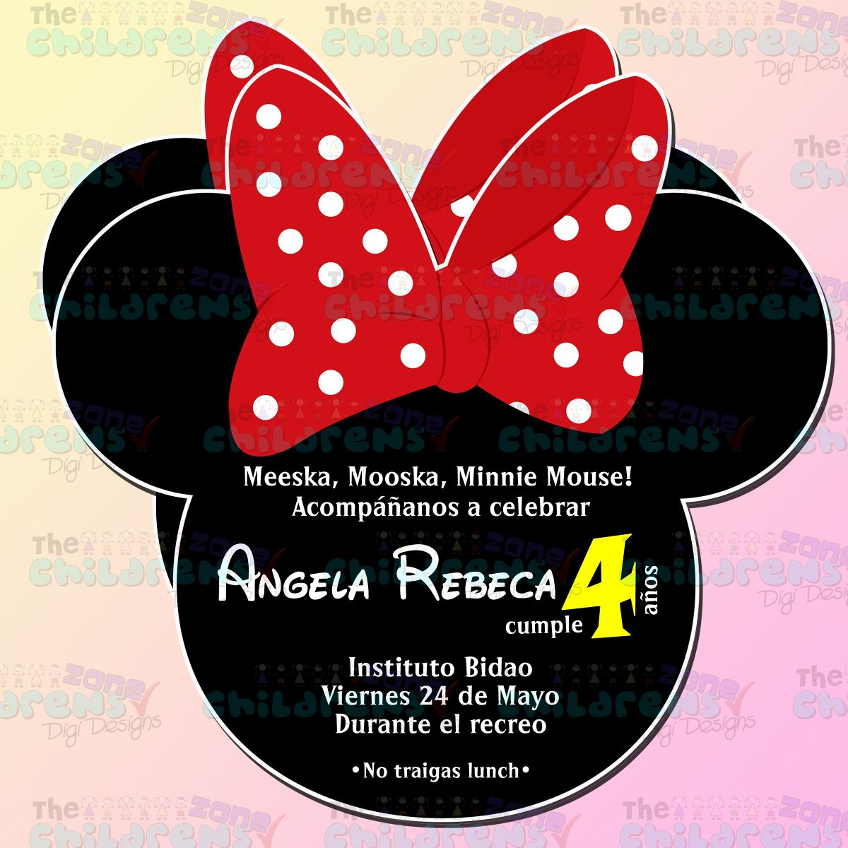Minnie Mouse Invitations Baby Shower are Lovely Sample To Create Unique Invitations Template