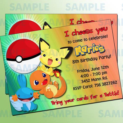Free Pokemon Birthday Invitations for awesome invitation ideas