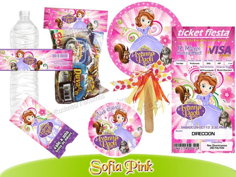 Invitaciones Princesa Sofia 1 Kit Imprimible Personalizado - $ 150.00