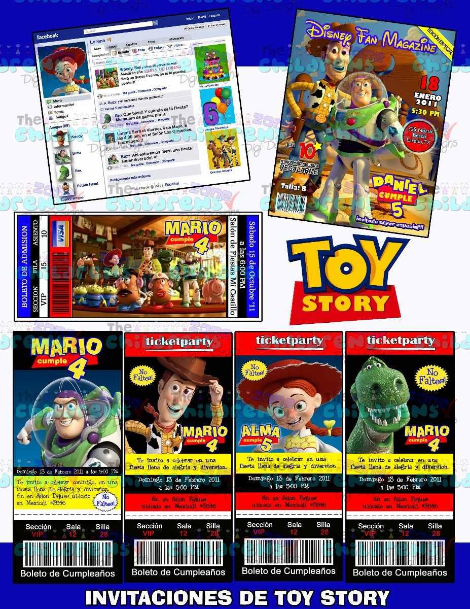 Invitaciones Toy Story-invitaciones Woody-buzz-jessie - $ 100.00 ...