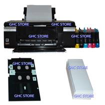 Epson T-50+sistema De Tinta+100 Credenciales Pvc+bandeja