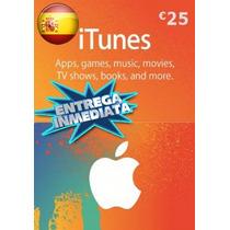 Tarjeta Gift Card Itunes España 25 Euros Ipod Ipad Iphone