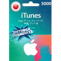 Tarjeta Gift Card Itunes Japon ¥5000 Para Iphone Ipad Ipod
