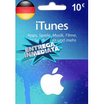 Tarjeta Gift Card Itunes Alemania 10 Euros Ipod Ipad Iphone