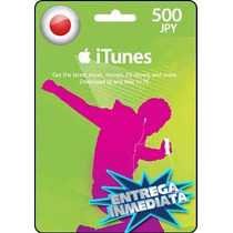 Tarjeta Gift Card Itunes Japon ¥500 Para Iphone Ipad Ipod
