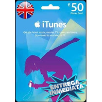 Tarjeta Gift Card Itunes Inglaterra Uk 50 Libras Iphone Ipad