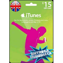Tarjeta Gift Card Itunes Inglaterra Uk 15 Libras Iphone Ipad