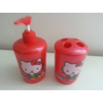 Set Para Baño Hello Kitty! Nuevo