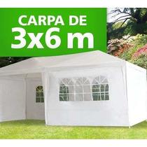 Toldo Carpa 6x3 Mts C/cortinas Impermeable Entrega Inmediata