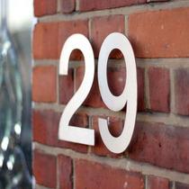 Numeros Acero Inoxidable Para Casa Residencia Oficina Dmm