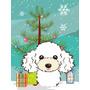 Árbol De Navidad Y La Bandera Blanca Del Jardín Tamaño Bb