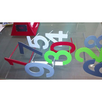 Números Y Letras En Acero Pintura Electrostática