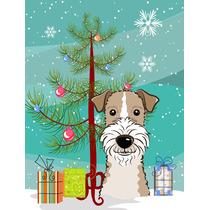 Árbol De Navidad Y Cabelludo Del Alambre Fox Terrier Bander