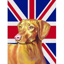 Vizsla Con Inglés Union Jack Británica Bandera De La Bande