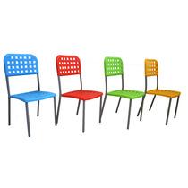Silla De Plastico Y Acero Varios Colores Para Exterior R057