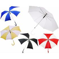 5 Paraguas 105cm Diám., Impresos C/tu Logo Envio Gratis D15