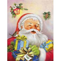 Navidad Santa Claus Presenta La Bandera Verde Superficie Aph