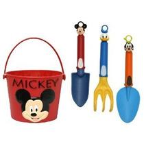 Midwest Guantes Y Engranajes Mickey Mouse Cubo Y Jardín Tool