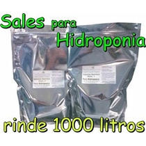 Solución Nutritiva Hidropónica Hortalizas Sales 1000 Litros