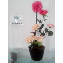 Arreglo Con Flores En Maceta Maa