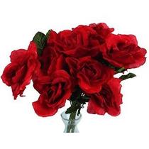 Artificiales Flores Artificiales Rosas Rosas Rojas (paquete