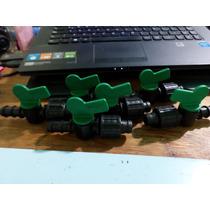 10 Mini Valvulas Politileno-cinta De 16 Mm