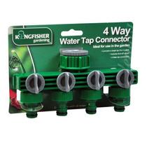 Adaptador De Manguera - 4 Camino Del Agua Tap Conector