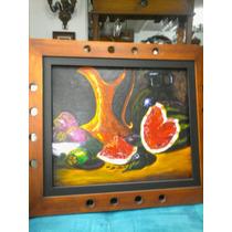 Pintura De Frutas Con Jarron