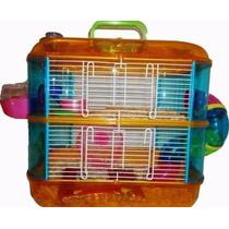 Jaula Para Hamster De 2 Pisos Con Tubos De Colores