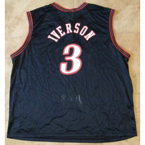 Jersey Nba, Allen Iverson, Talla 44 Champion Adulto, Sixers