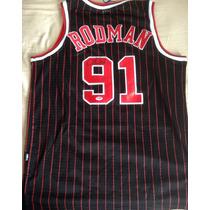Jersey Dennis Rodman Firmado Jordan Nike Bulls Original
