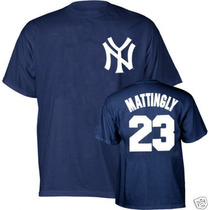 Playera Retro Don Mattingly # 23 Yankees Nueva York