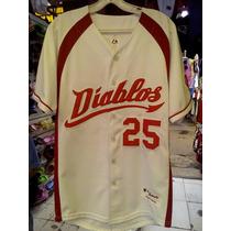 Jersey Beisbol Diablos Rojos Del Mexico
