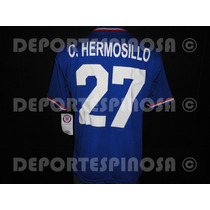 Jersey Cruz Azul Umbro Retro 70s Azul #27 Hermosillo