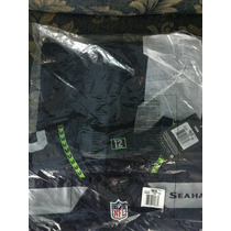 Jersey Nike Seattle Seahawks Russell Wilson Navy Blue Elite