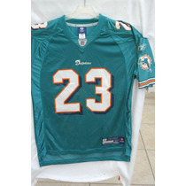 Jersey Nfl Dolphins # 23 Brown Reebok Talla Mediana Y Grande