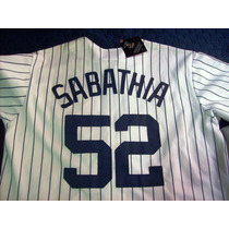Jersey Autentico Majestic Sabath N Y Yankees World Series.