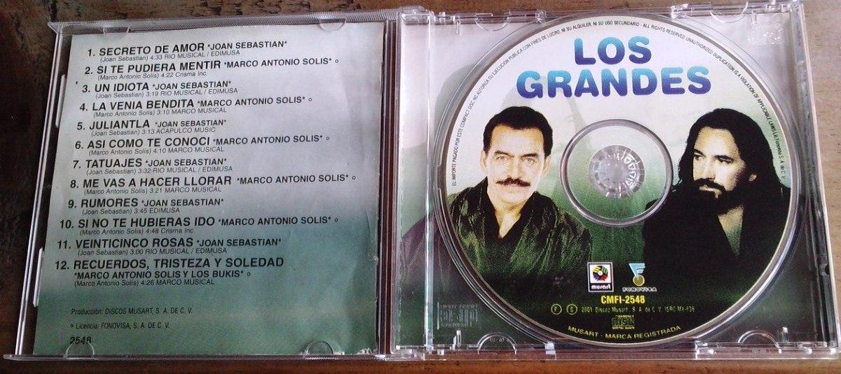 joan sebastian y marco a.solis los grandes cd raro 2001 dmm