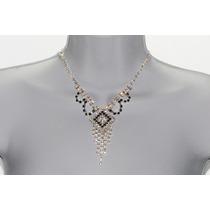 Conjunto Elegante, Collar, Aretes, Pulsera Y Anillo Ce107