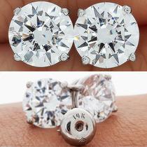 Arete Broquel .50 Carats Diamante De Grafito Oro 14k