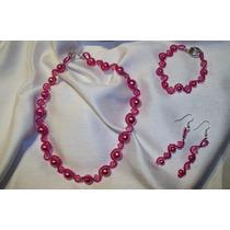 Collar, Aretes Y Pulsera. Muy Original Hm4