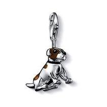 Dije-perro-sentado-plata.925-esmaltado -flete Gratis