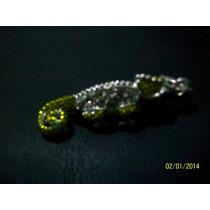 Dije Camaleon-plata.925-esmaltados- Cristales Blanco