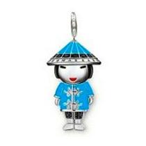 Dije Muñeca-japonesa-varios Colores Plata .925 -flete Gratis