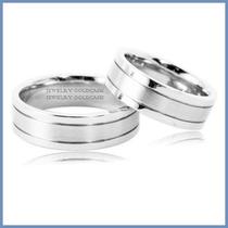 Argollas De Matrimonio Mod. Aura En Oro Blanco 14k Solido