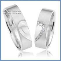 Argollas De Matrimonio Mod. Hope En Oro Blanco 10k Solido