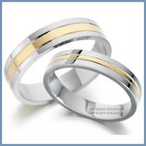 Argollas De Matrimonio Mod. Pendragon Oro Blanco 14k Solido