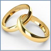Argollas Matrimonio Mod. Classic En Oro Amarillo 14k Solido